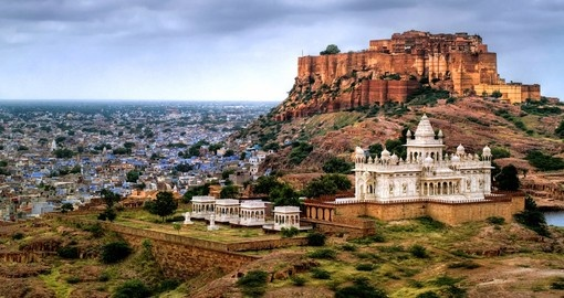 Blue city of Jodhpur with Mehrangharh Fort