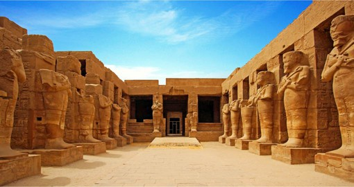 Karnak Temple in Luxor was the primary place of worship during Egypt's New Kingdom