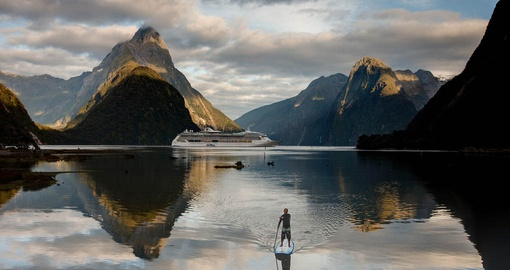 Paddleboarding on the Milford Sound