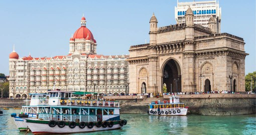 Gateway of India, built by the British Raj in 1924 is one of Mumbai's best known landmarks