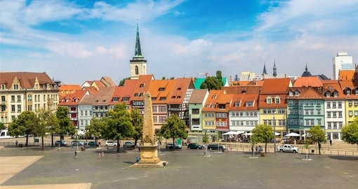 Erfurts medieval town centre is a must see on any german vacation package