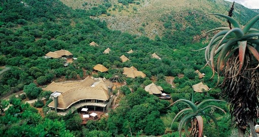 Breathtaking aerial view of Shamwari Eagles Crag Lodge on your next South Africa vacations.