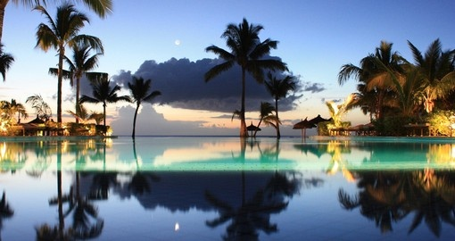 Sunset reflections in Mauritius