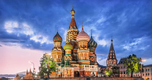 At the foot of Red Square, St Basil's Basilica is one of the most beautiful Russian Orthodox monuments
