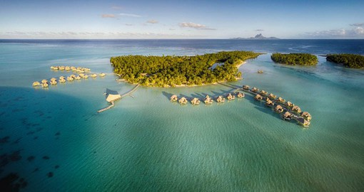 Le Taha'a Island Resort & Spa sits on its own motu, a small islet poised between the reef and the lagoon,