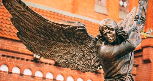 Archangel Michael in Independence Square is a popular photo opportunity on all Belarus vacations.