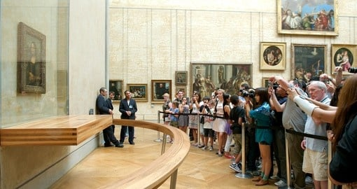 Visit the Mona Lisa at the Louvre - always a highlight on Paris tours.