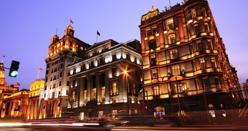 European style buildings on the world famous Bund