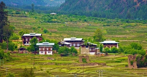 Bhutanese Homes in Paro Valley