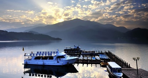 Sun Moon Lake is the largest body of water in Taiwan