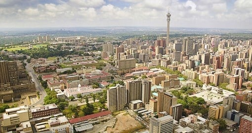 Begin your South Africa Vacation in Johannesburg, the country's largest city.