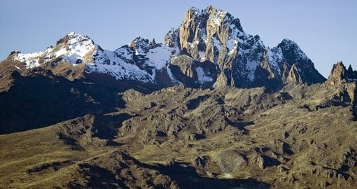 A brilliant view of Mount Kenya - always a great photo opportunity on your Kenyan safari.