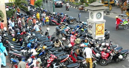 The preferred mode of transportation in Yogyakarta
