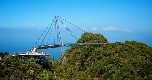 A bridge and platform for great views of Langkawi island
