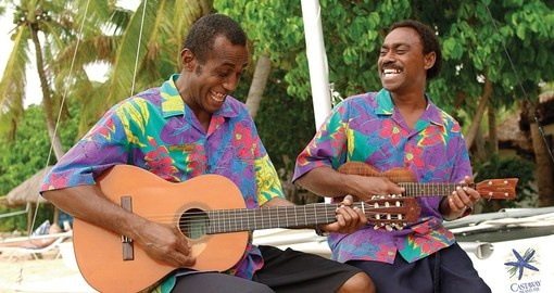 Enjoy traditional Fijian entertainment on Castaway Island during you next Trips to Fiji.