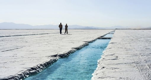Salt water pool on the Salinas Grandes