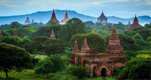Once the capital of an ancient kingdom, Bagan is home to 2,200 Buddhist temples