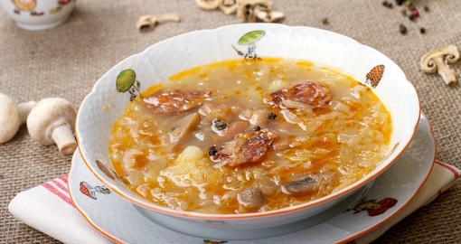 Traditional Slovak cabbage soup