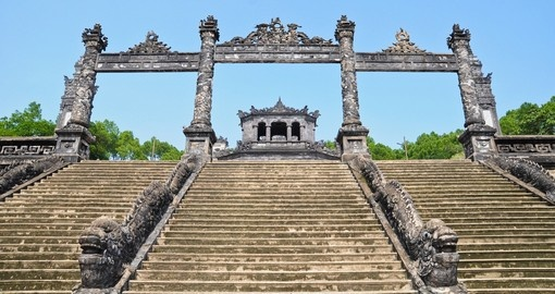 Tomb of Emperor in Hanoi while visiting Vietnam