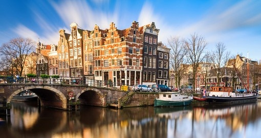 Enjoy the beautiful canal views during your Netherlands vacation.