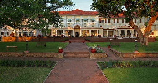 Experience all the amazing amenities of the Victoria Falls Hotel during your next Zimbabwe vacations.