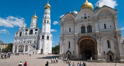 Explore the area surrounding the famed Kremlin in Moscow on your Russia Vacation