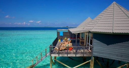 Relax in your overwater bungalow accommodation - a highlight for everyone bookings trips to the Maldives