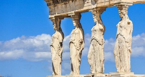 Detail of the south porch of Erechtheion with the Caryatids, Athens