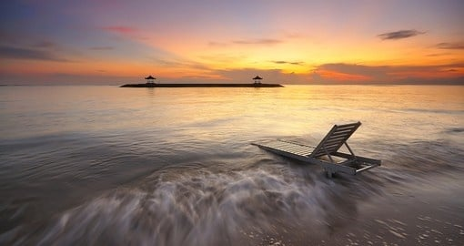 Enjoy the beautiful Sanur Beach during your Indonesia trip.