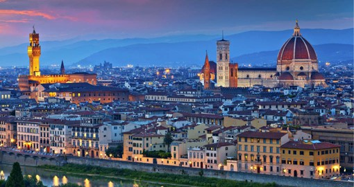 Birthplace of the Renaissance, Florence is a place to enjoy art and Tuscan cuisine