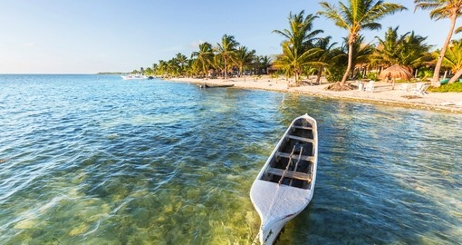 Crystal clear waters of the Mexican Riviera