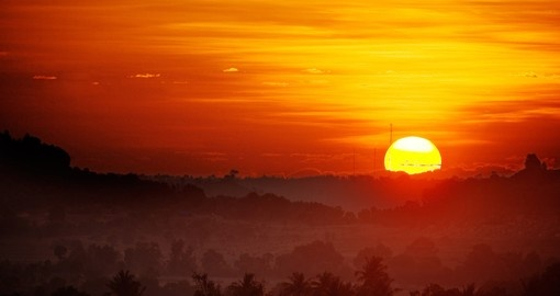 Take in a perfect sunrise on your trip to Cambodia