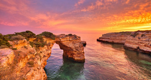 Enjoy a memorable sunset on your Portugal vacation