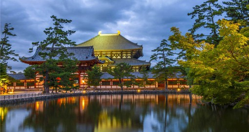 Nara was the capital of Japan between 710 and 784 and features a large number of historical temples