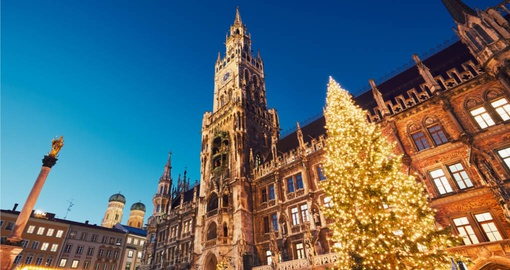 Experience Marienplatz square at unforgettable Christmas time on your next Germany tours.