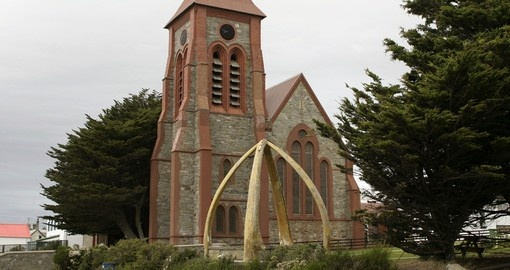 Anglical cathedral in Port Stanley