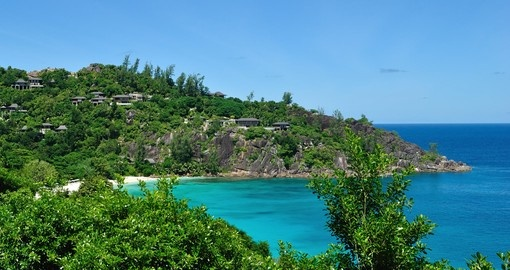 The breathtaking Petite Anse on the island of Mahe