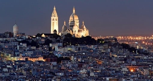 Sacre Coeur at the summit of Montmartre