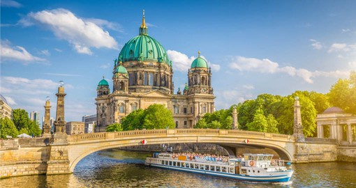 Berliner Dom or Berlin Cathedral, dominates Museum Island in the Spree River