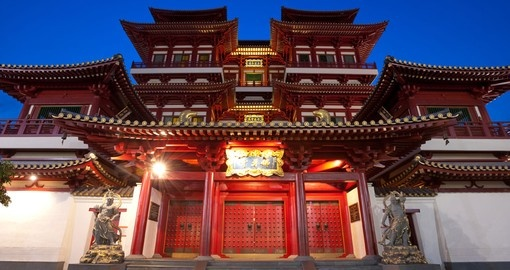 Visit the Relic Tooth Temple and learn about local cultural beliefs on your Trips to Singapore