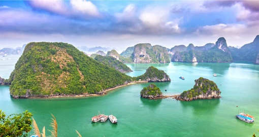 A visit to Halong Bay is a must