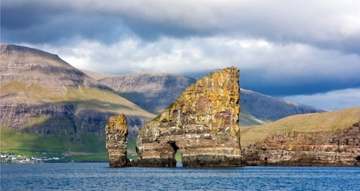 Dramatic coastal scenery of the Faroe Islands