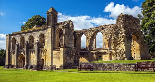 Explore Ruins of Glastonbury Abbey during your next trip to England.