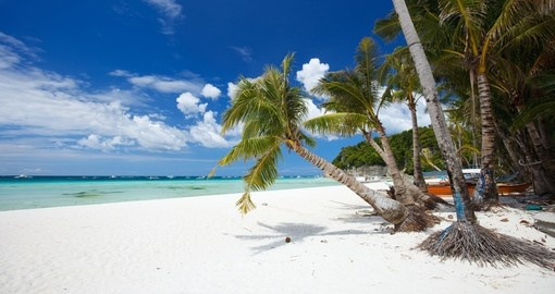A perfect tropical white sand beach in Boracay