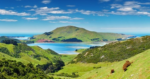 Experience this amazing Coastal View of Otago Peninsula during your next trip to New Zealand.