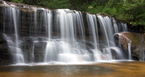See Wentworth Falls in the Blue Mountains on your trip to Australia