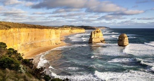 The Twelve Apostles in Victoria - an inclusion on many Australian tours.