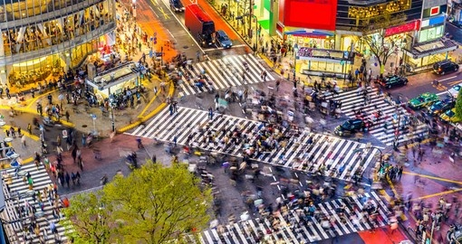 Shibuya Crossing, one of the busiest crosswalks in the world you have to see on your next Japan vacations.