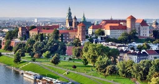 Historic Royal Wawel Castle in Krakow