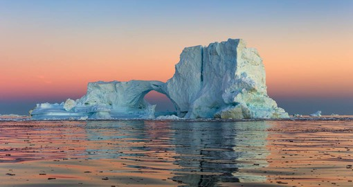 Disko Bay on Greenland's west coast is renown for the most impressive icebergs of the northern hemisphere
